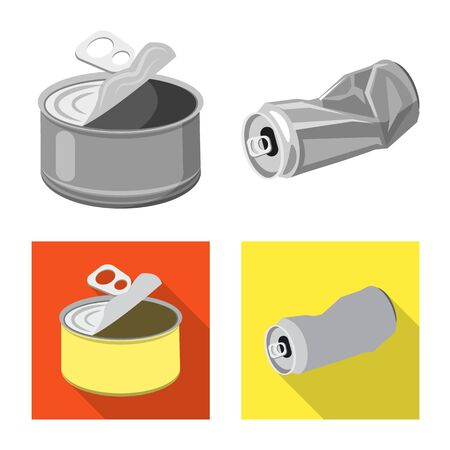 Vector design of refuse and junk icon. Set of refuse and waste stock vector illustration.