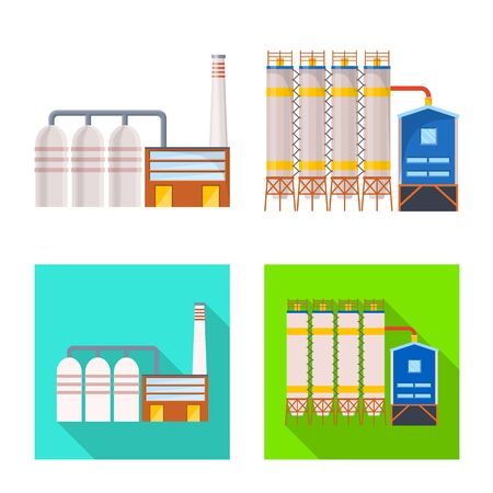 Vector illustration of production and structure icon. Collection of production and technology vector icon for stock.
