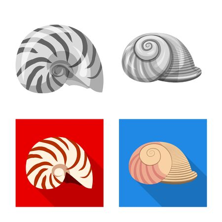 Vector design of animal and decoration symbol. Collection of animal and ocean stock symbol for web.