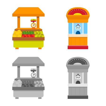 Vector design of amusement and store icon. Collection of amusement and urban stock vector illustration.