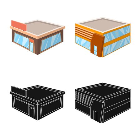 Isolated object of and urban symbol. Collection of and house stock symbol for web.