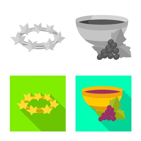 Vector design of deity and antique sign. Collection of deity and myths vector icon for stock.