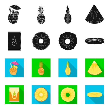 Vector design of nutrition and dietary logo. Set of nutrition and refreshment vector icon for stock. Banco de Imagens - 131840373