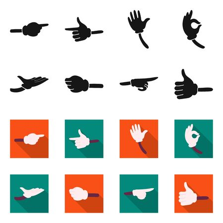 Vector design of animation and gestures sign. Collection of animation and information stock vector illustration.