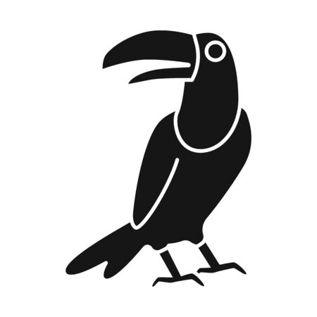Vector design of toucan and bird sign. Collection of toucan and jungle vector icon for stock.