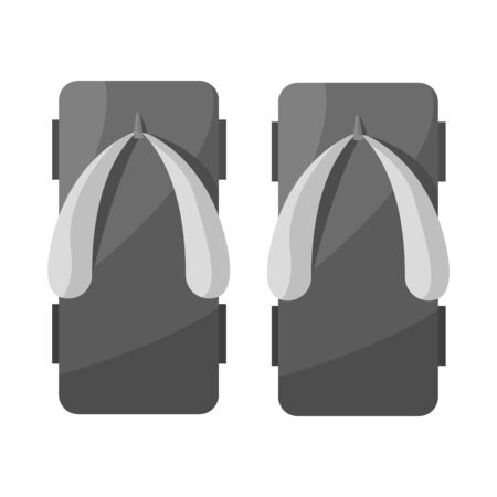 Isolated object of flip and flop icon. Set of flip and wooden stock symbol for web.