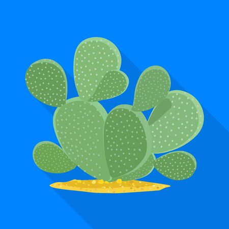 Isolated object of cactus and succulent logo. Graphic of cactus and green stock vector illustration. Stock Illustratie