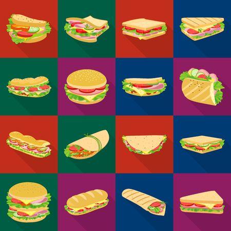 Vector illustration of dinner and cuisine symbol. Collection of dinner and breakfast stock symbol for web. Ilustração