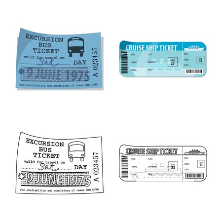 Isolated object of ticket and admission icon. Set of ticket and event stock symbol for web.