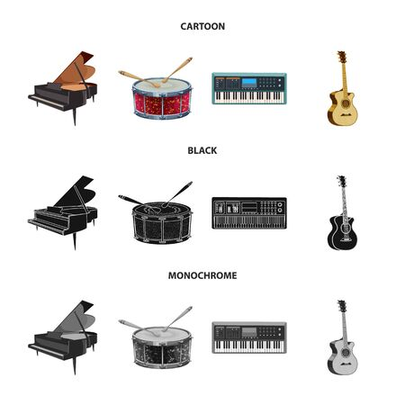 Vector design of music and tune icon. Set of music and tool stock symbol for web.