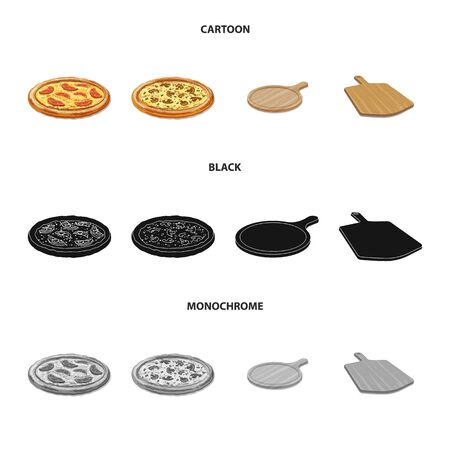 Vector design of pizza and food symbol. Collection of pizza and italy vector icon for stock. Векторная Иллюстрация
