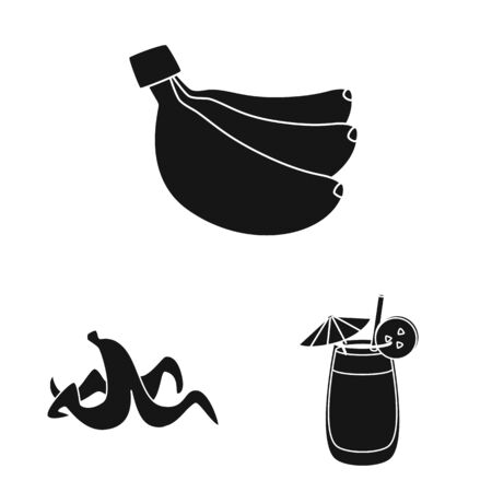 Isolated object of vitamin and eating symbol. Collection of vitamin and ripe vector icon for stock.