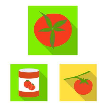 Isolated object of vegetable and delicious sign. Collection of vegetable and natural stock vector illustration. Ilustração