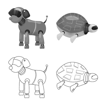 Vector design of toy and science icon. Collection of toy and toy stock symbol for web.