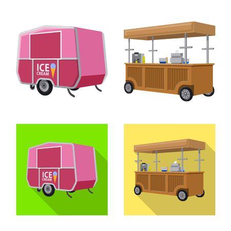 Vector illustration of marketing and tent logo. Collection of marketing and outdoor vector icon for stock. Ilustracja