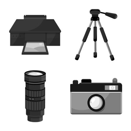 Vector design of professional and accessories icon. Set of professional and work stock symbol for web.