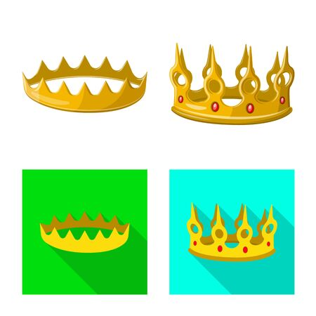 Isolated object of medieval and nobility symbol. Collection of medieval and monarchy vector icon for stock.