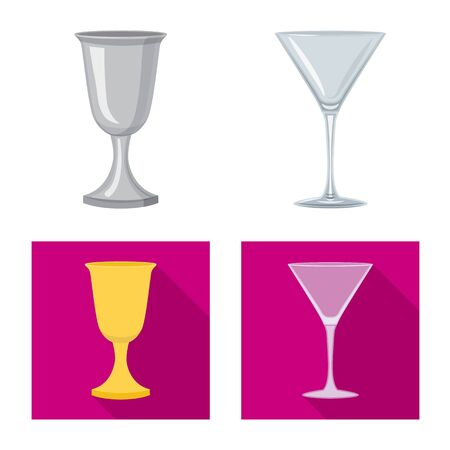 Vector design of form and celebration icon. Set of form and volume vector icon for stock.