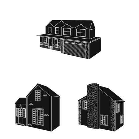 Vector design of renovation and infrastructure icon. Set of renovation and home stock symbol for web.  イラスト・ベクター素材