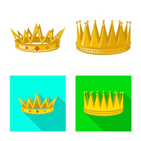 Isolated object of medieval and nobility icon. Set of medieval and monarchy stock symbol for web.