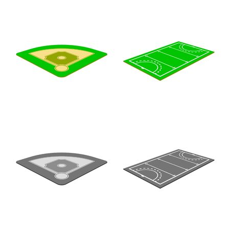 Isolated object of playground and sport icon. Set of playground and scene vector icon for stock.