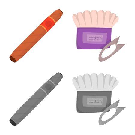 Vector design of technology and taste logo. Collection of technology and trendy stock vector illustration.