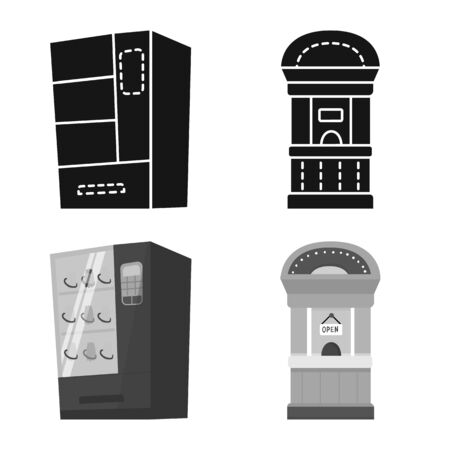 Vector design of amusement and store icon. Set of amusement and urban stock vector illustration. Ilustrace