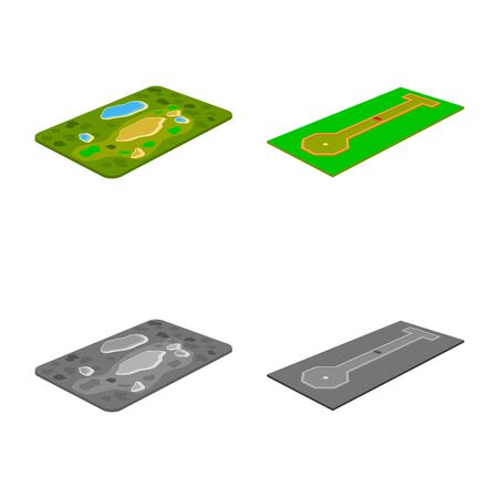 Isolated object of playground and sport icon. Collection of playground and scene vector icon for stock.