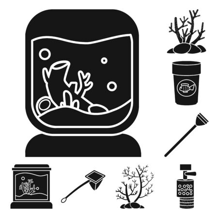 Vector illustration of decorative and interior symbol. Collection of decorative and aqua stock vector illustration.
