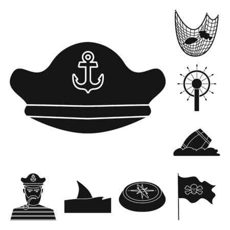 Isolated object of journey and seafaring icon. Collection of journey and adventure stock symbol for web.