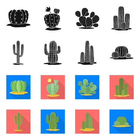 Isolated object of botanical and oasis symbol. Set of botanical and vegetative stock symbol for web. 向量圖像