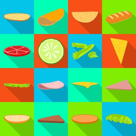 Vector illustration of cooking and dinner sign. Collection of cooking and fast vector icon for stock. Illusztráció
