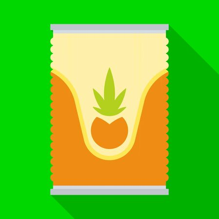 Vector design of bank and canned logo. Web element of bank and ananas stock symbol for web.