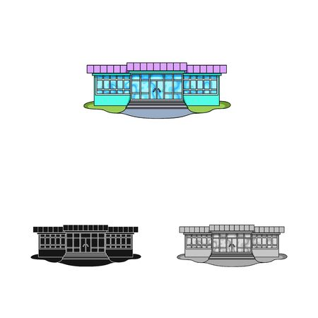 Vector illustration of store and market icon. Collection of store and mini vector icon for stock.