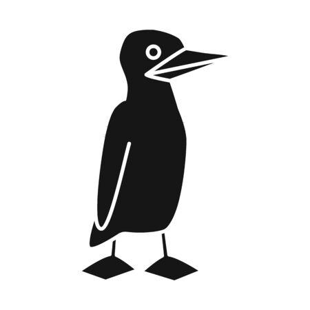 Vector illustration of bird and booby icon. Set of bird and blue stock vector illustration. Vektoros illusztráció