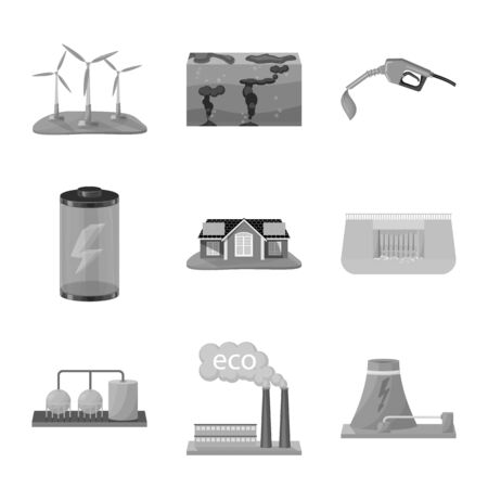Isolated object of renewable and environment symbol. Collection of renewable and organic stock symbol for web.