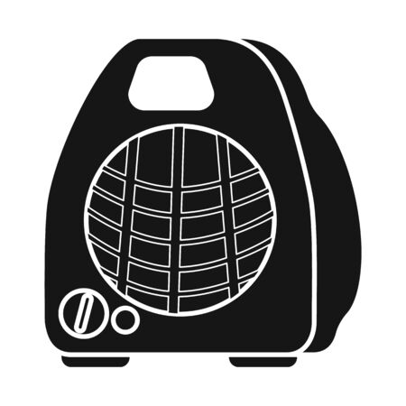 Vector design of heater and portable symbol. Graphic of heater and room vector icon for stock.  イラスト・ベクター素材