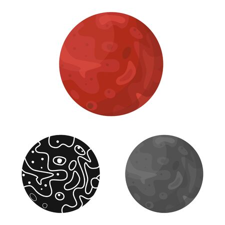 Vector design of moon and crater symbol. Web element of moon and astrology vector icon for stock. Illusztráció
