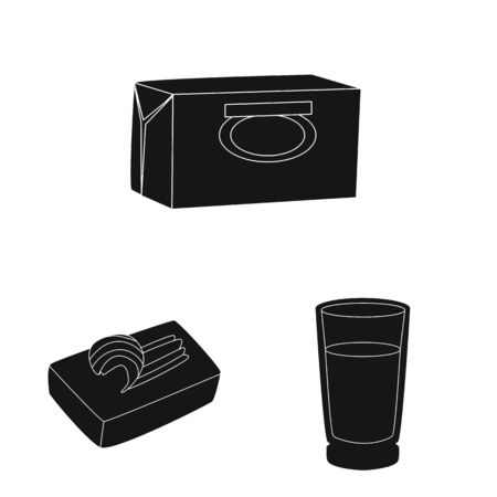 Vector design of diet and farm  . Collection of diet and dairy vector icon for stock.