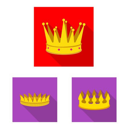 Vector illustration of medieval and nobility icon. Set of medieval and monarchy stock vector illustration.