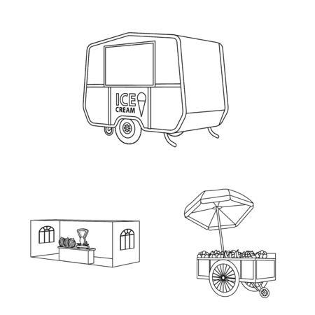 Isolated object of market and small symbol. Collection of market and food vector icon for stock.