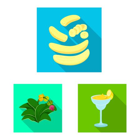 Vector design of natural and vegetarian icon. Collection of natural and eating stock symbol for web.