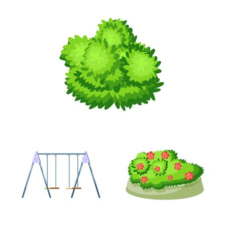 Isolated object of landscape and park icon. Set of landscape and nature stock symbol for web. Иллюстрация
