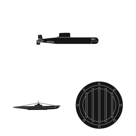 Vector design of technology and fleet sign. Set of technology and navy vector icon for stock.