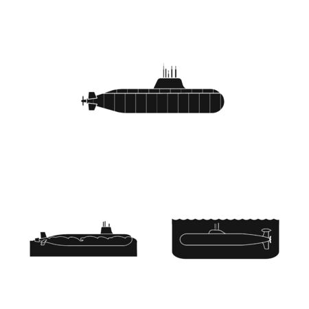 Vector design of technology and fleet icon. Set of technology and navy stock symbol for web. 向量圖像