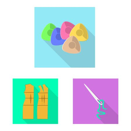 Vector design of craft and handcraft icon. Collection of craft and industry stock symbol for web. Çizim