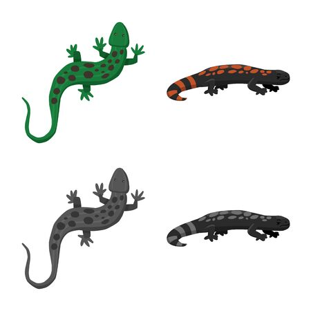Vector design of tail and fauna sign. Collection of tail and environment vector icon for stock.
