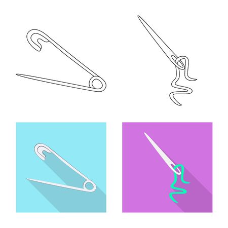 Vector design of craft and handcraft symbol. Set of craft and industry vector icon for stock.