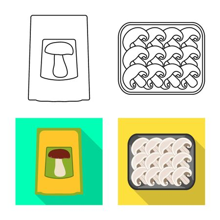Vector illustration of raw and summer icon. Collection of raw and ingredient stock vector illustration. Illustration