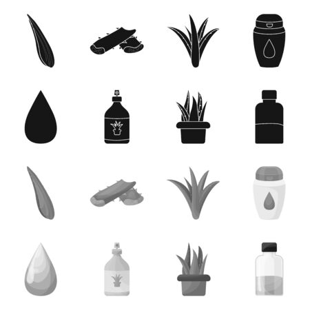 Isolated object of ingredient and organic icon. Collection of ingredient and product vector icon for stock. Stok Fotoğraf - 132304112